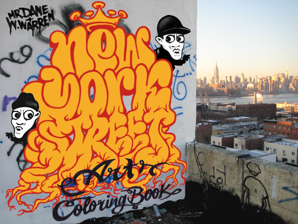 New York Street Art Colouring Book