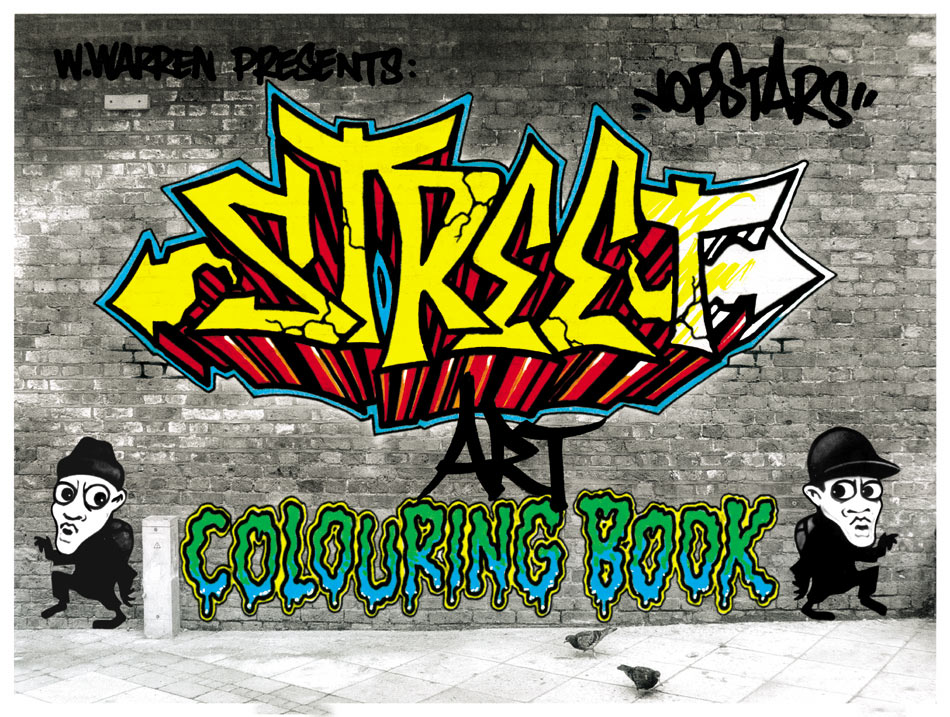 Street Art Colouring Book