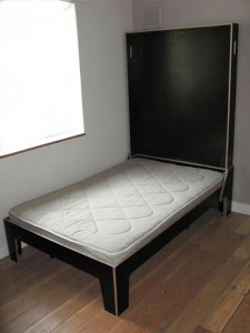 double bed and cutting table